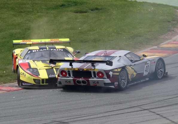 Unfall Belgain Racing Ford GT mit Marc VDS Ford GT